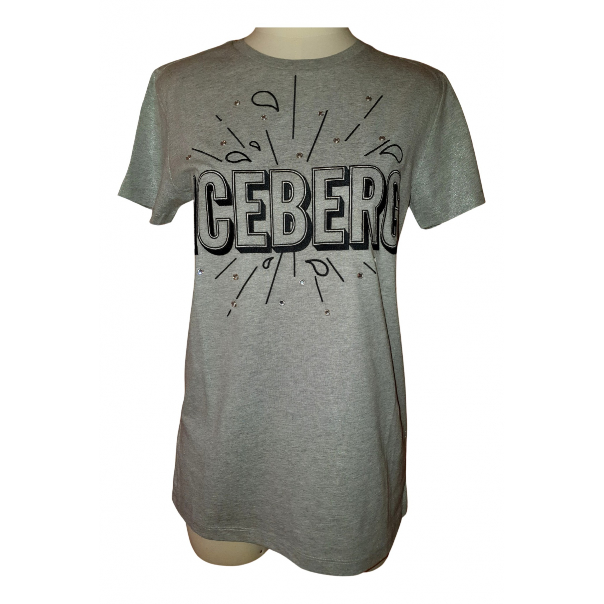Iceberg N Grey Cotton  top for Women 40 IT