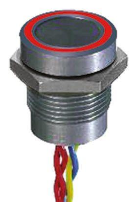 APEM Illuminated Flying Lead Piezo Switch, , IP68, 200 mA @ 24 V dc, Single Pole Single Throw (SPST), -40 → +75°C
