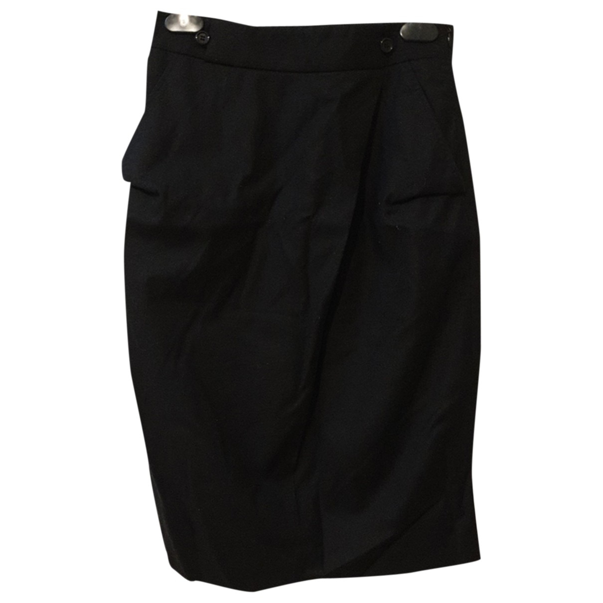 Costume National - Jupe   pour femme en laine - noir
