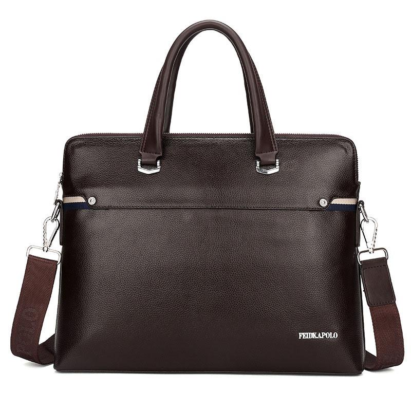 Ericdress Plain Thread PU Men's Tote Bags