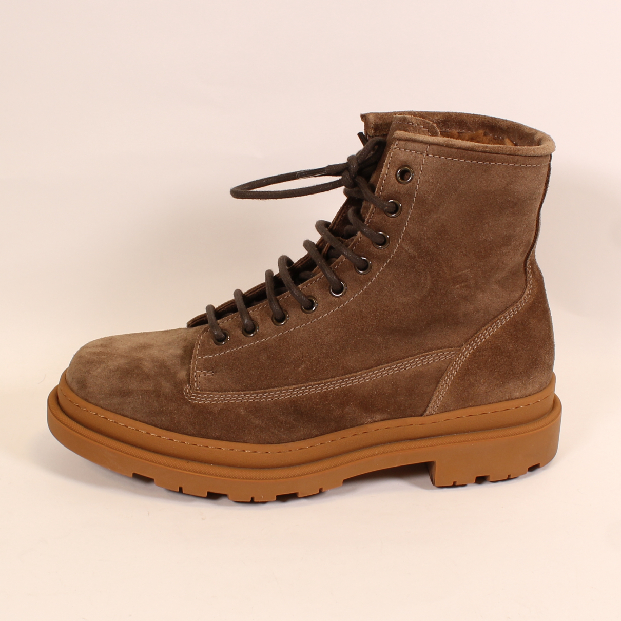 Brunello Cucinelli N Brown Suede Boots for Men 40 EU