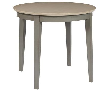 D837-13 Toronto  Round Dining Table  in Linen and Weathered
