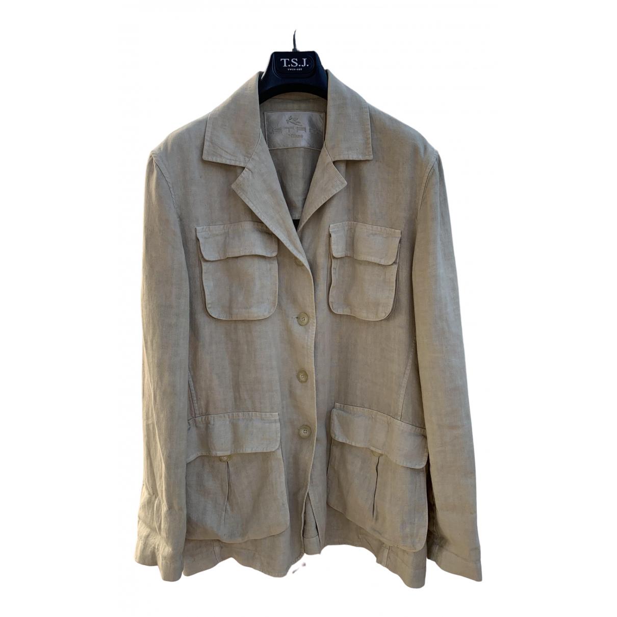 Etro - Manteau   pour femme en lin - ecru