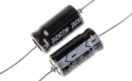 RS PRO 10μF Electrolytic Capacitor 100V dc, Through Hole (10)