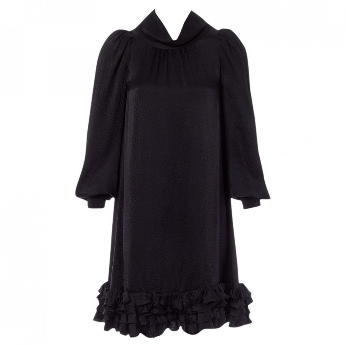 Balenciaga \N Kleid in  Schwarz Seide