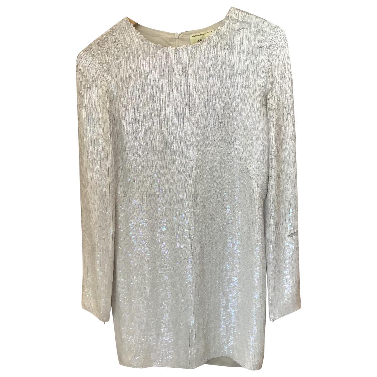 Ashish \N White Glitter dress for Women M International