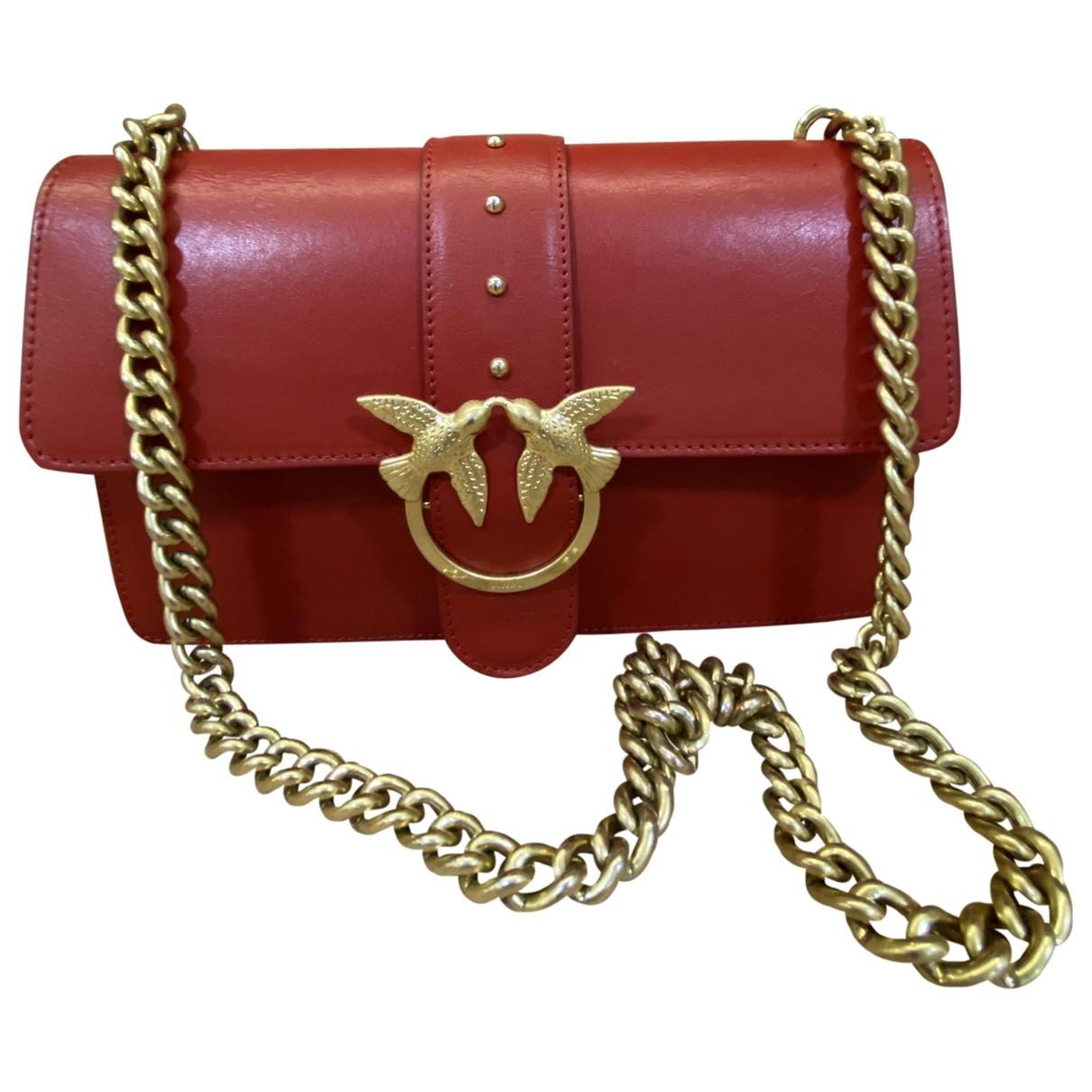 Pinko Love Bag Handtasche in  Rot Leder