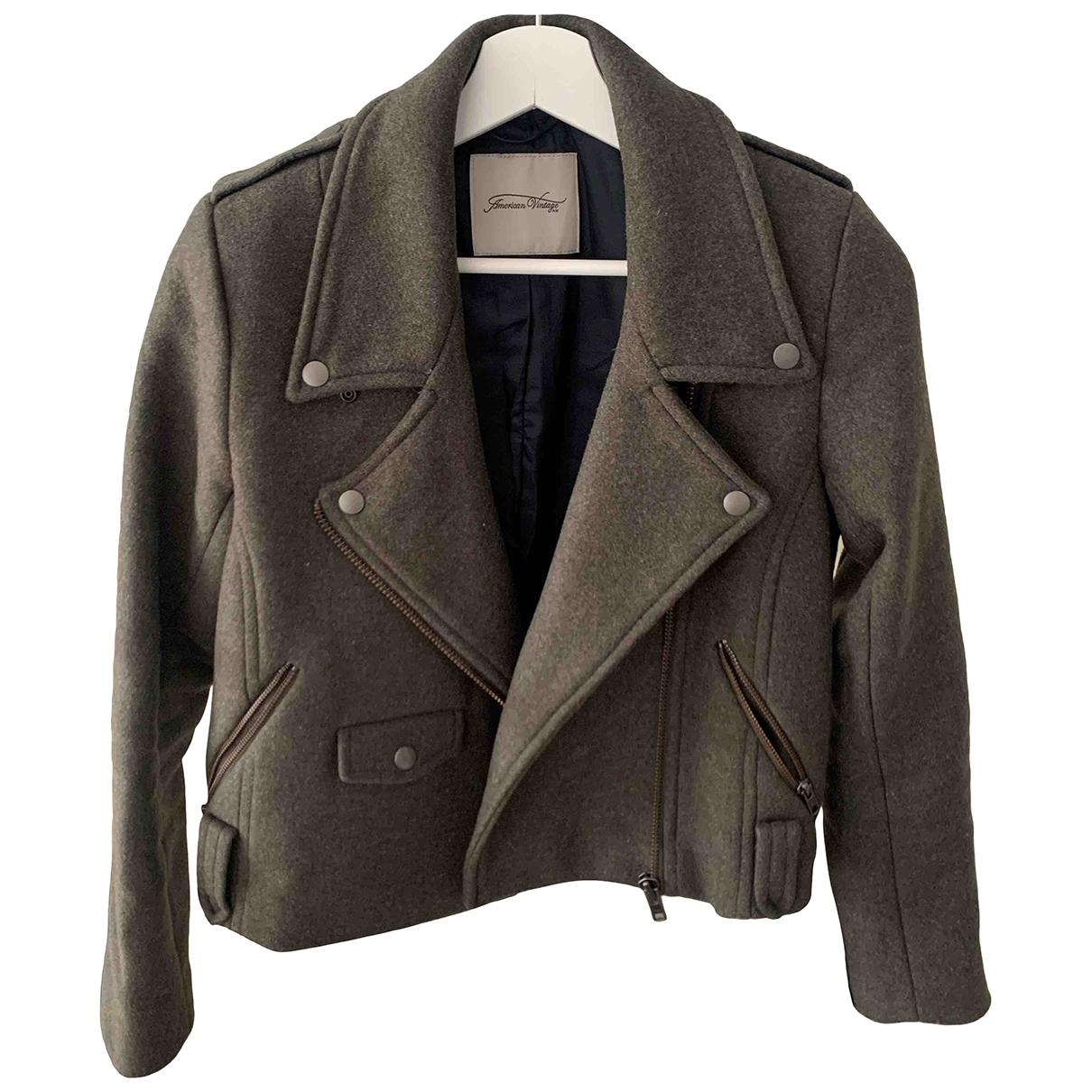 American Vintage - Manteau   pour femme en laine - kaki
