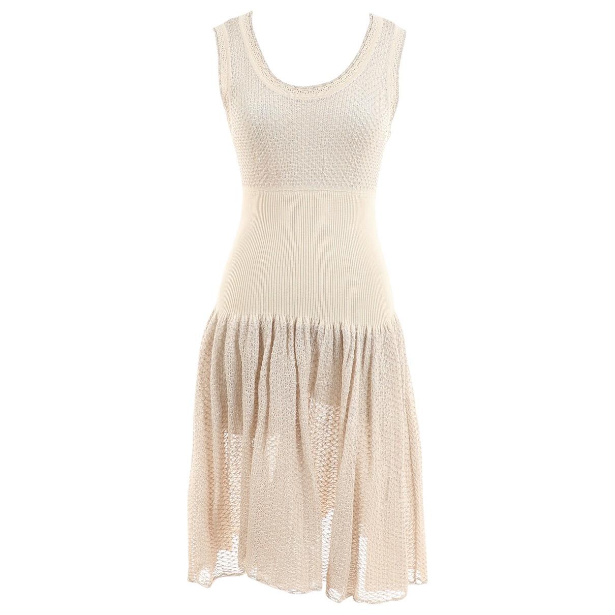 Alaia \N Kleid in  Beige Viskose