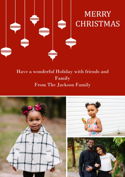 Christmas Photo Cards 5x7 Cards, Premium Cardstock 120lb with Rounded Corners, Card & Stationery -Abundant Ornaments