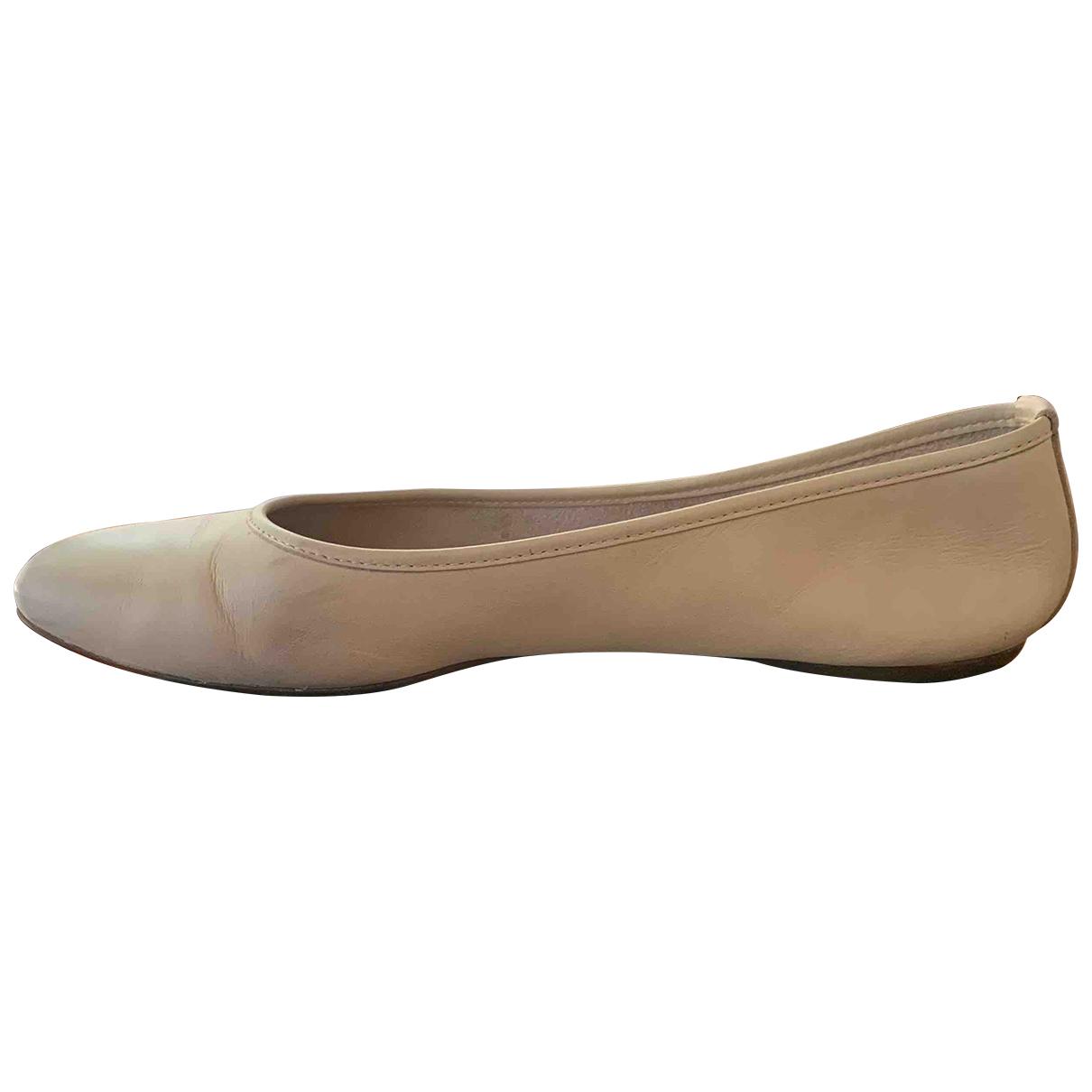 Hogan \N Ballerinas in  Beige Leder