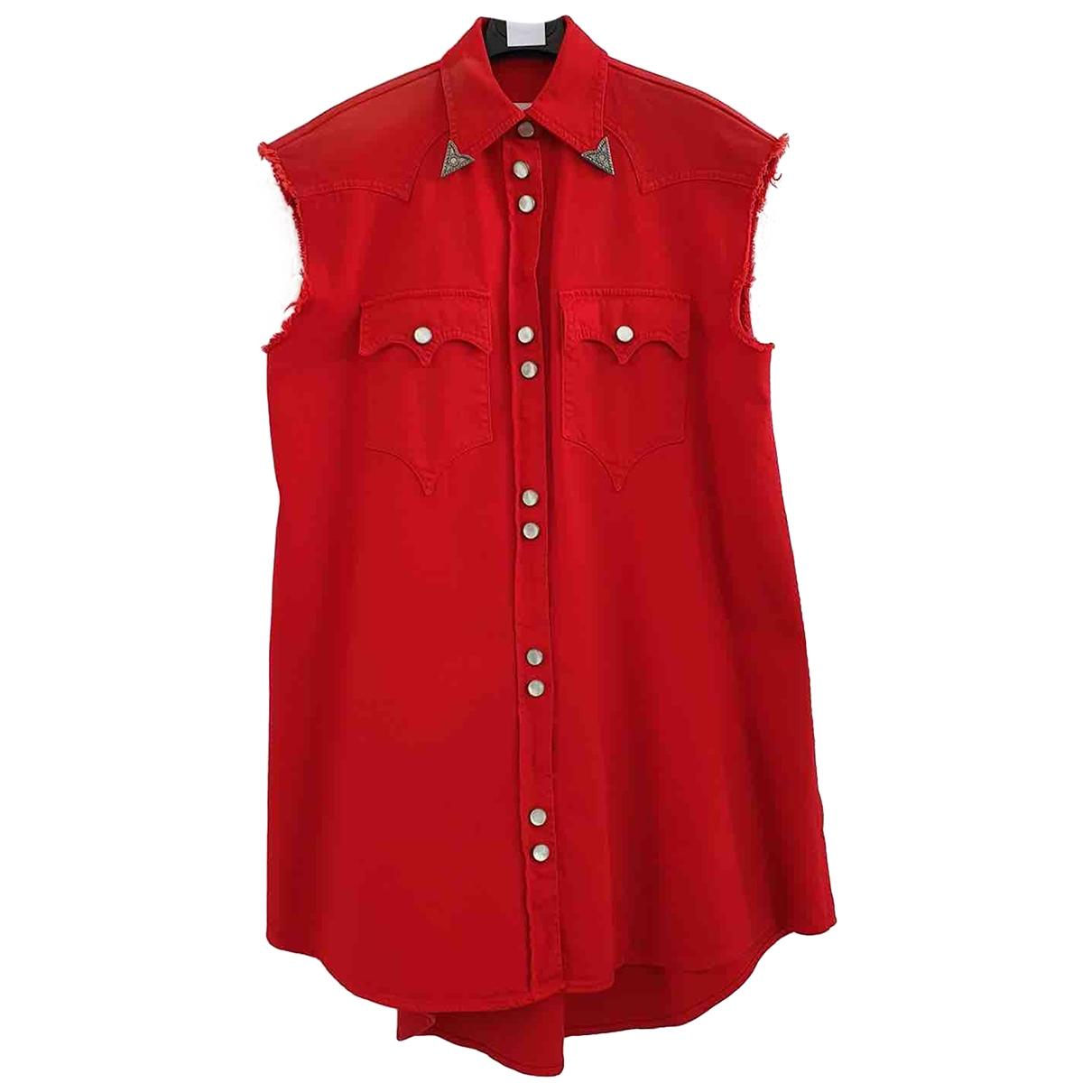 Mm6 - Veste   pour femme en coton - rouge