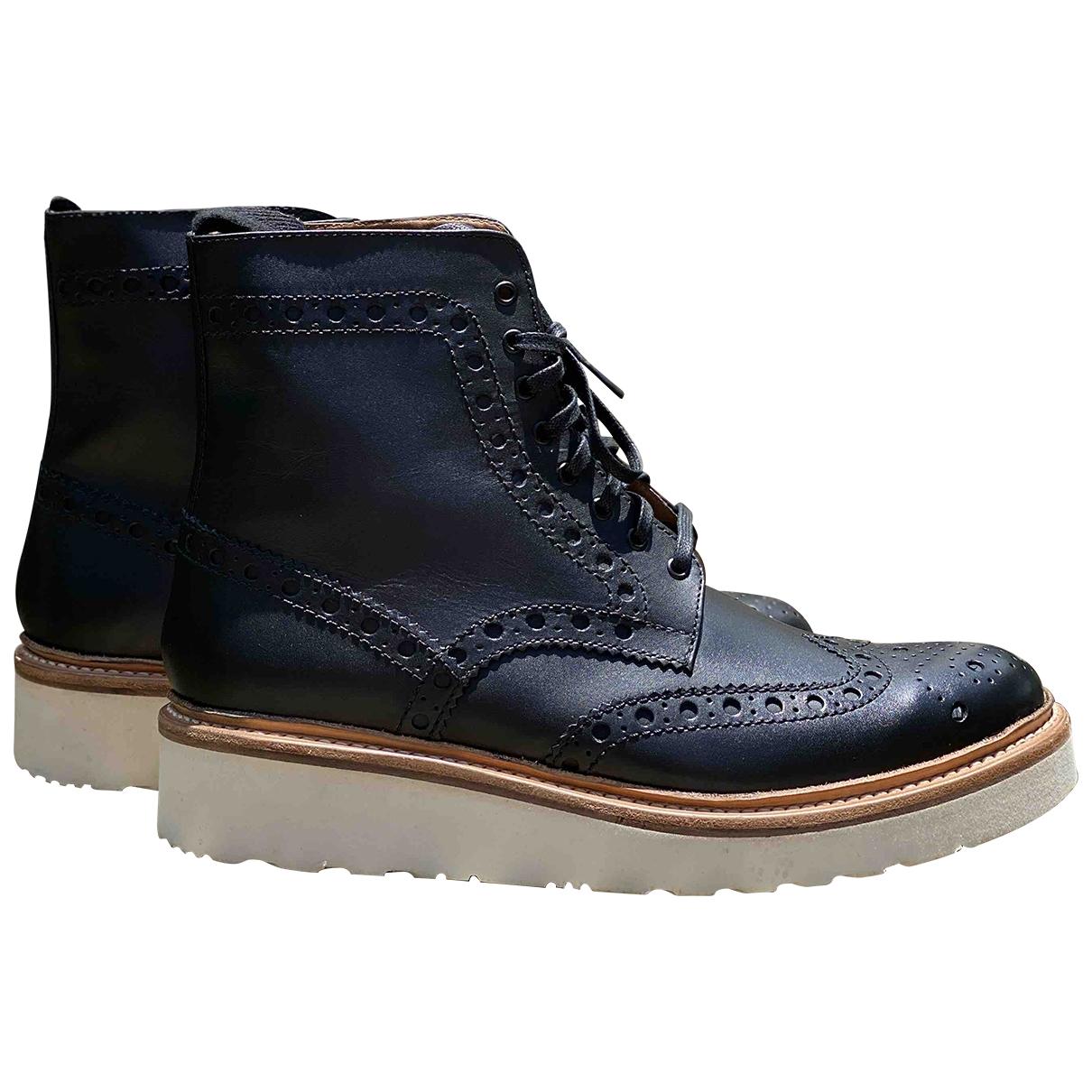 Grenson \N Black Leather Boots for Men 7.5 UK