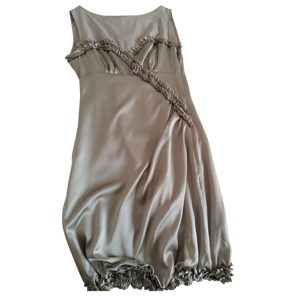 Ermanno Scervino - Robe   pour femme en soie - gris