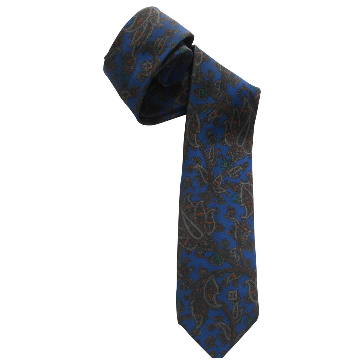 Celine \N Krawatten in  Blau Seide