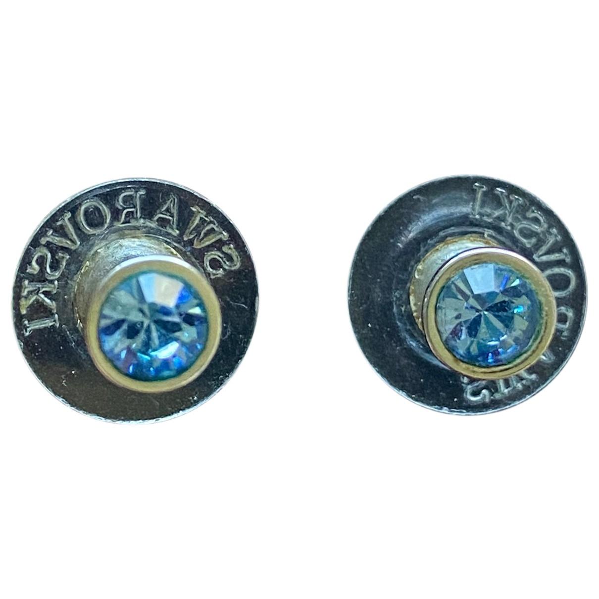 Swarovski \N OhrRing in  Blau Stahl