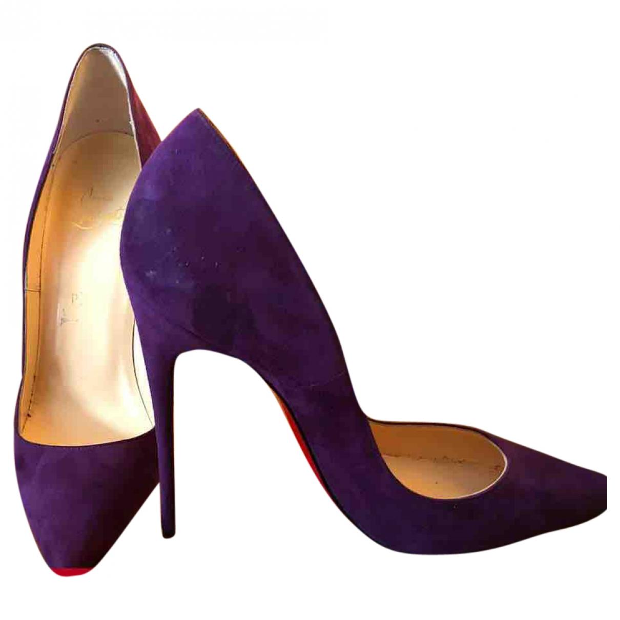 Christian Louboutin - Escarpins So Kate  pour femme en suede - violet