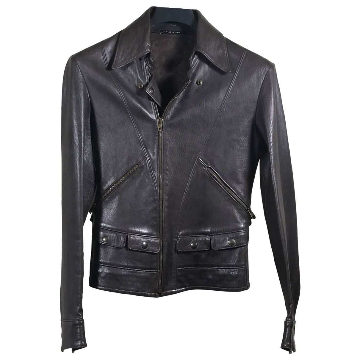 Gucci \N Brown Leather jacket  for Men 48 IT