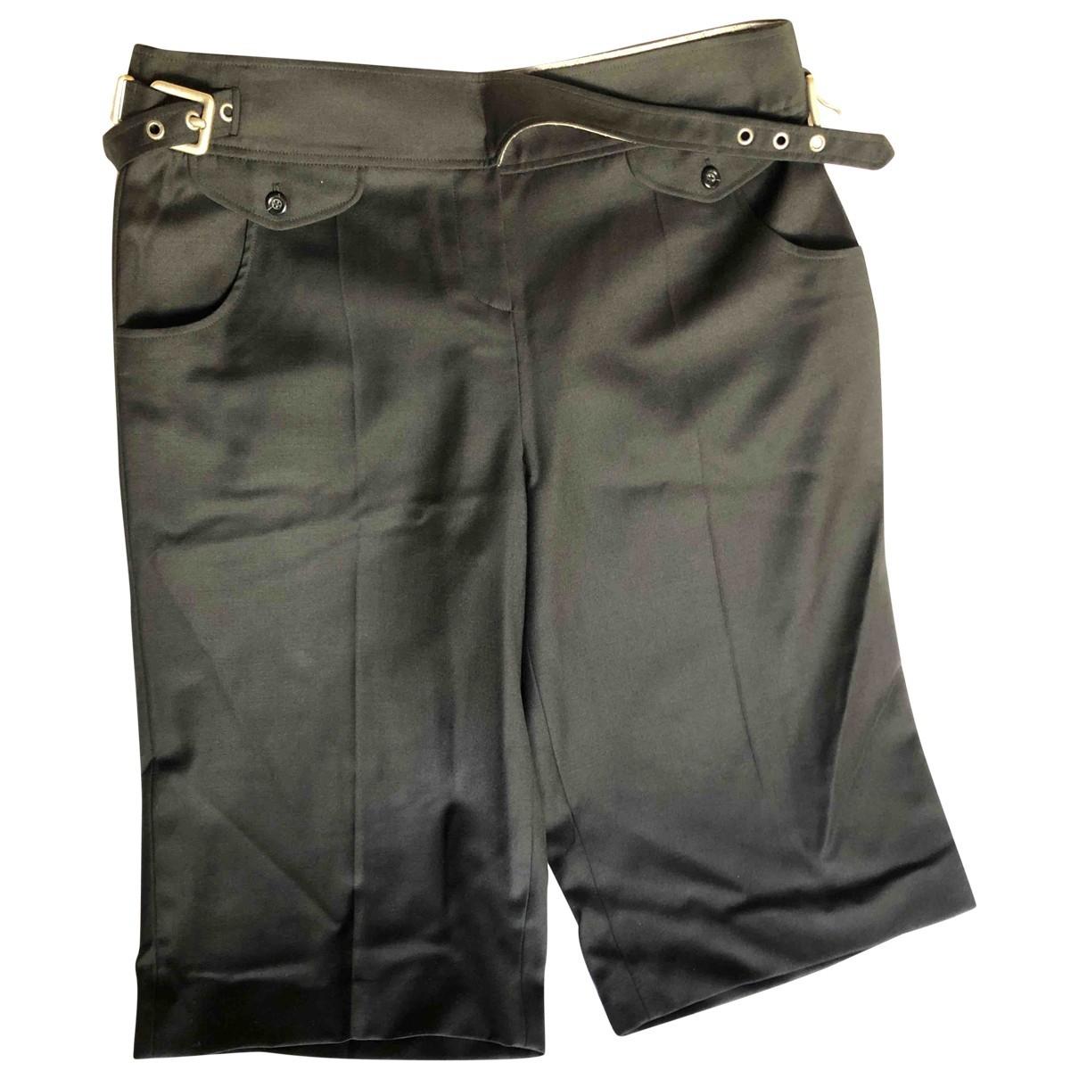 Kenzo \N Black Wool Shorts for Women 44 IT