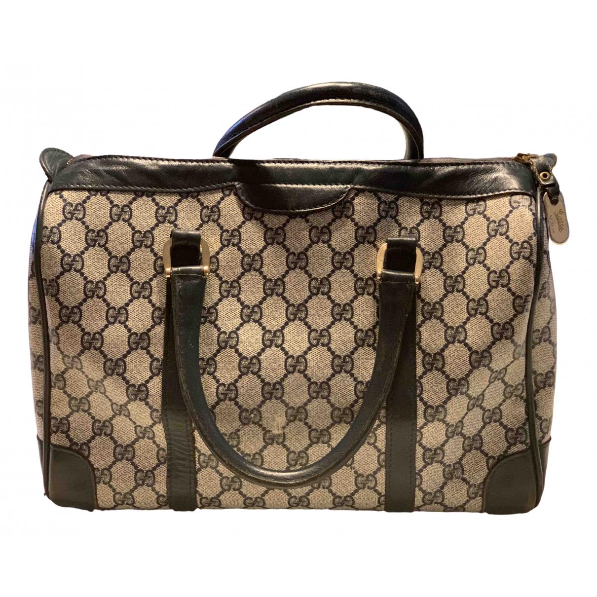 Gucci \N Handtasche in  Blau Leinen