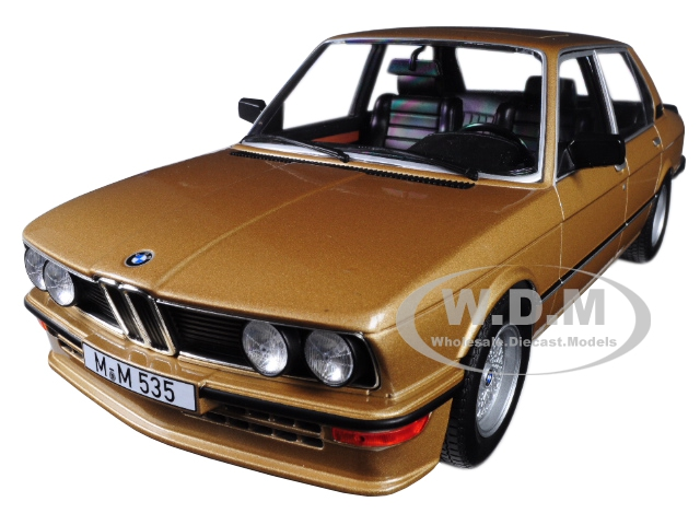 1980 BMW M535i Metallic Gold 1/18 Diecast Model Car by Norev