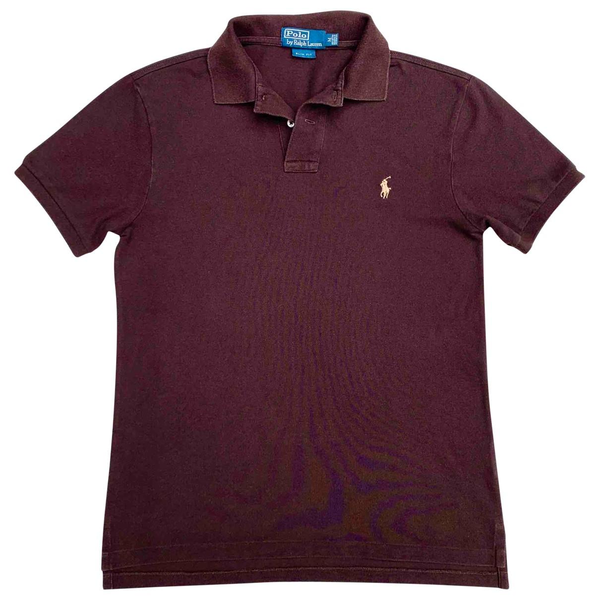 Polo Ralph Lauren Polo ajusté manches courtes Brown Cotton Polo shirts for Men M International