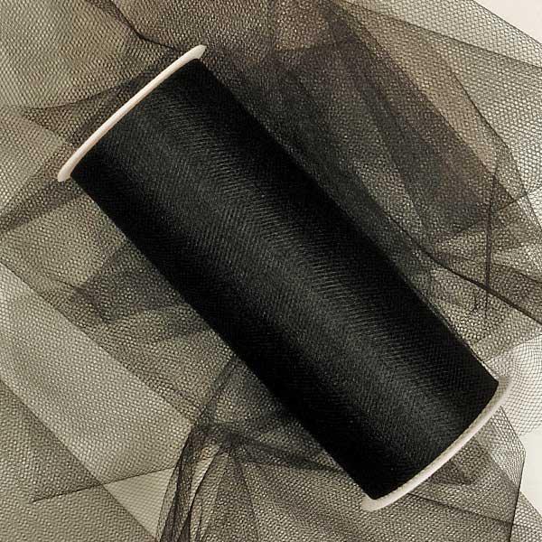 Fabric Cloth Black Tulle Rolls 18