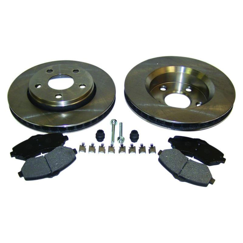 Crown Automotive 52060137K Jeep Replacement Disc Pads and Brake Shoes Jeep Wrangler Front 2007-2017