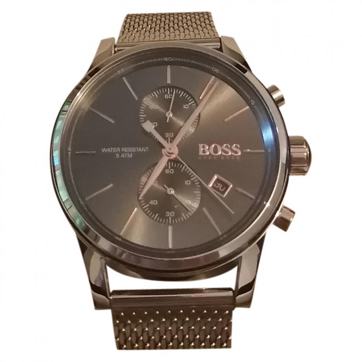 Hugo Boss - Montre   pour homme en acier - gris