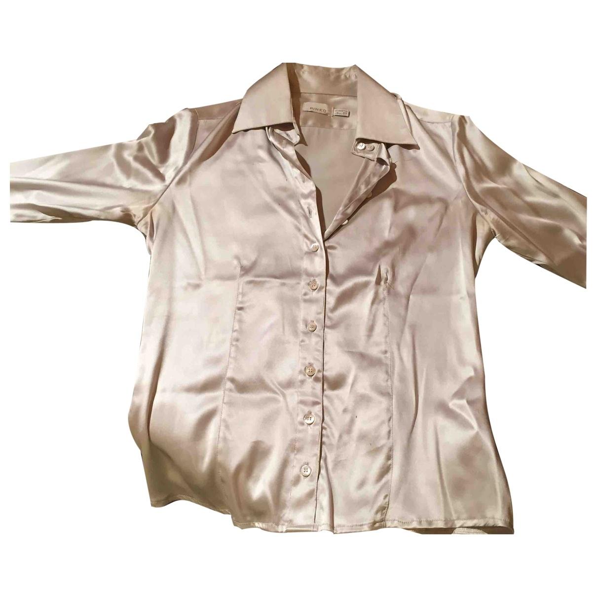 Pinko \N Silver Silk Knitwear for Women 44 IT