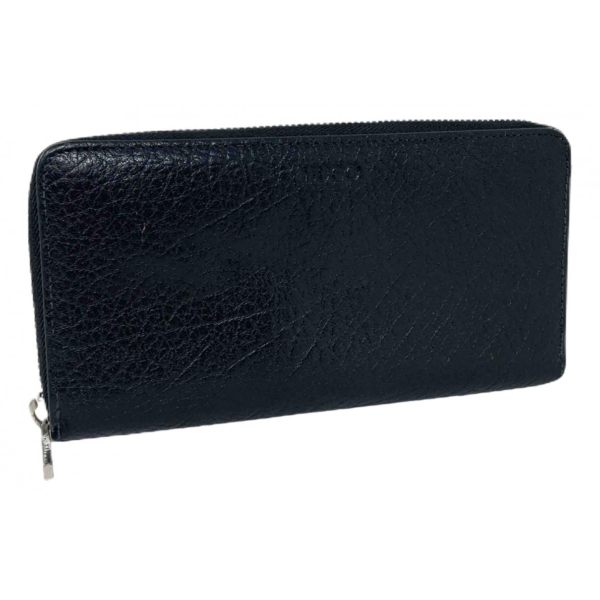 Hugo Boss - Portefeuille   pour femme en cuir - noir