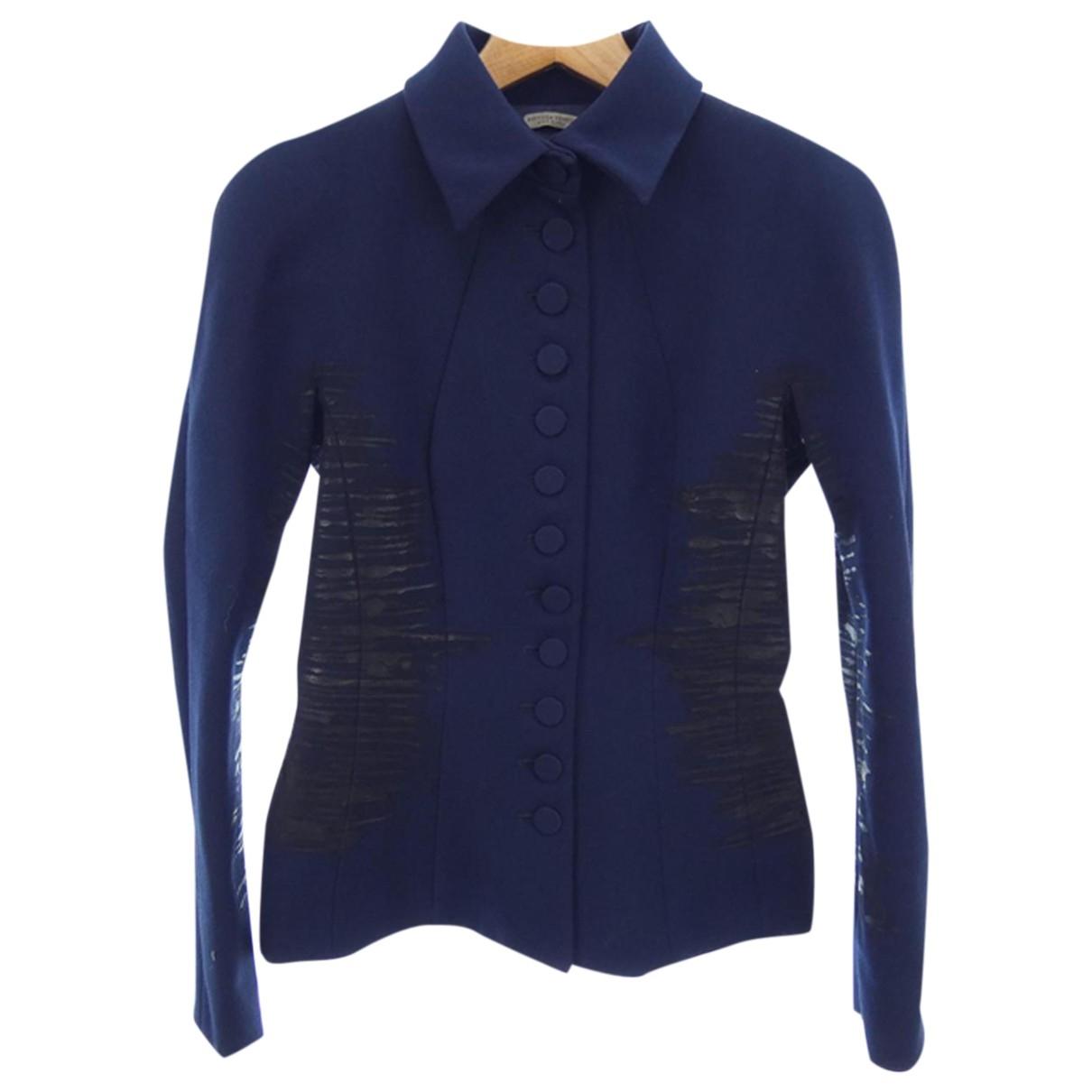 Bottega Veneta - Veste   pour femme en laine - bleu