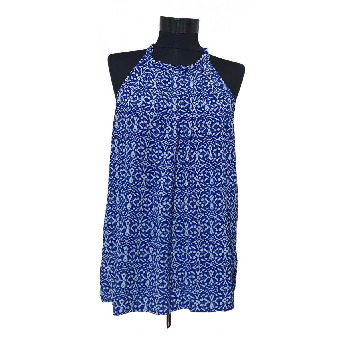 Cynthia Rowley - Top   pour femme en soie - bleu