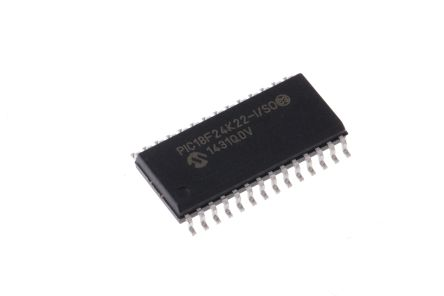 Microchip PIC18F24K22-I/SO, 8bit PIC Microcontroller, PIC18F, 64MHz, 16 kB Flash, 28-Pin SOIC