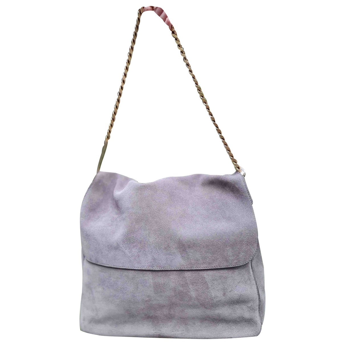 Celine Gourmette Grey Suede handbag for Women \N