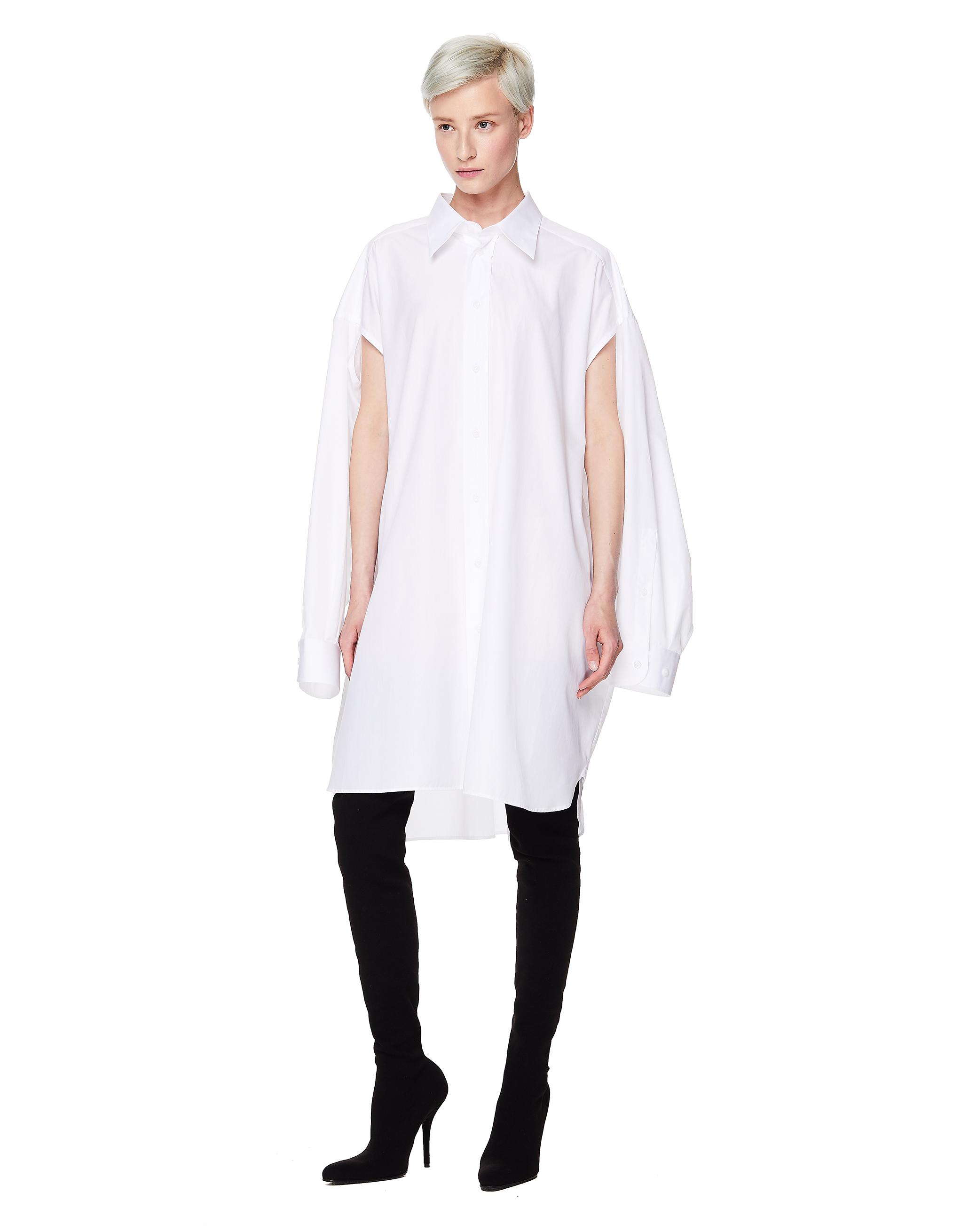 Maison Margiela White Cotton Oversized Shirt