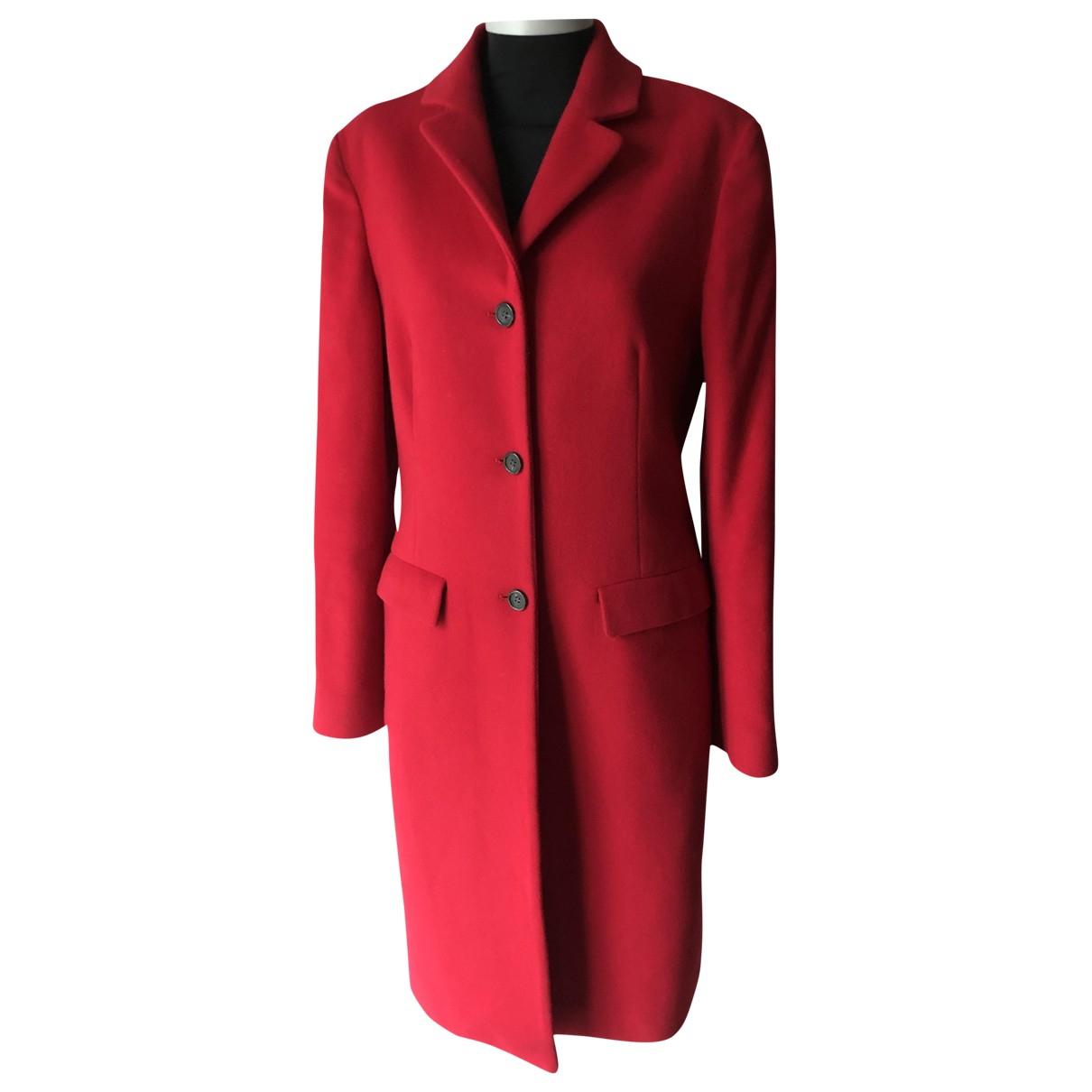 Calvin Klein - Manteau   pour femme en laine - rouge