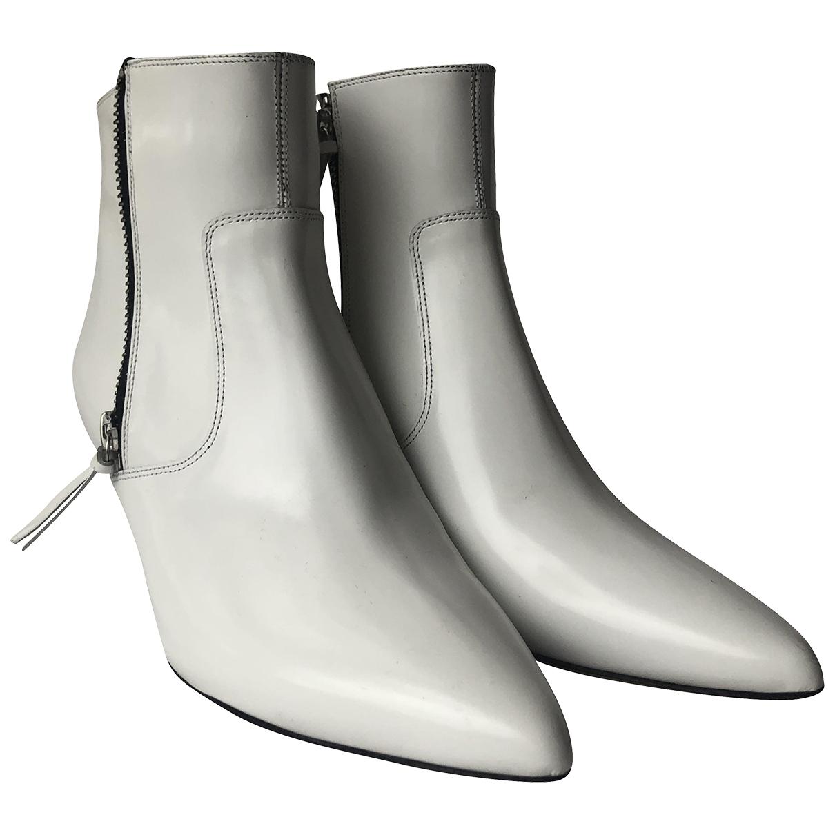 Isabel Marant - Boots   pour femme en cuir verni - blanc