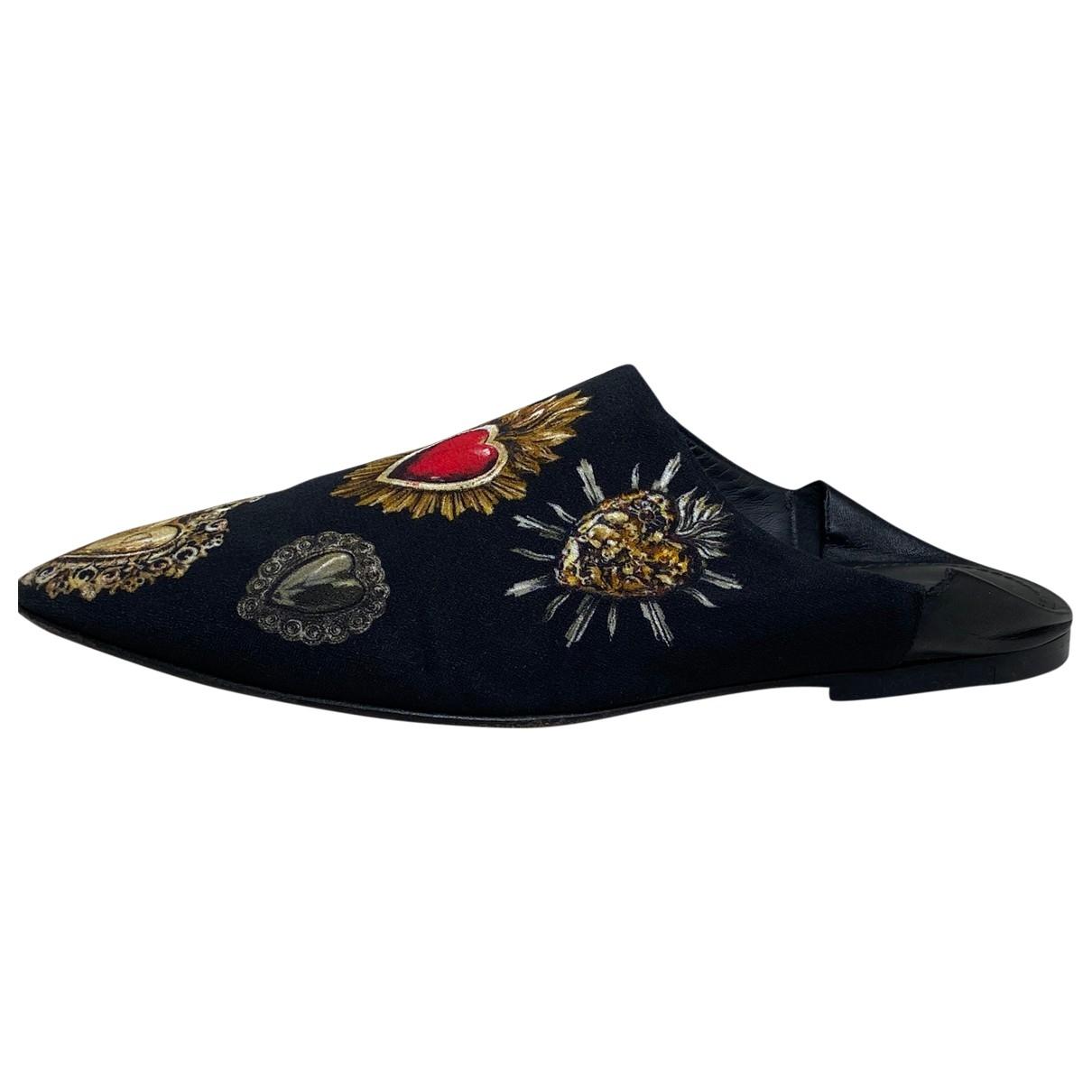Dolce & Gabbana \N Black Cloth Sandals for Women 38 EU