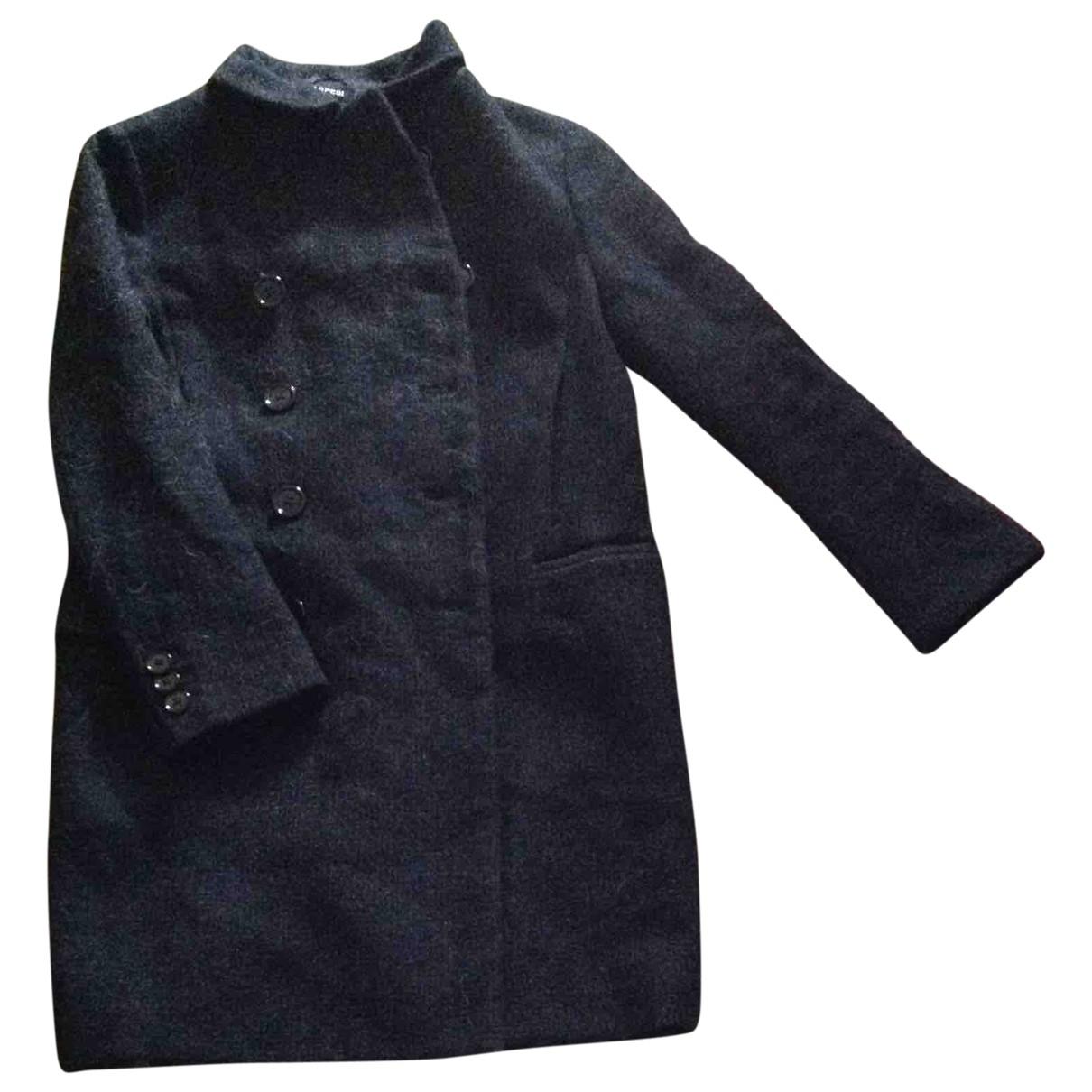 Aspesi \N Maentel in  Blau Wolle