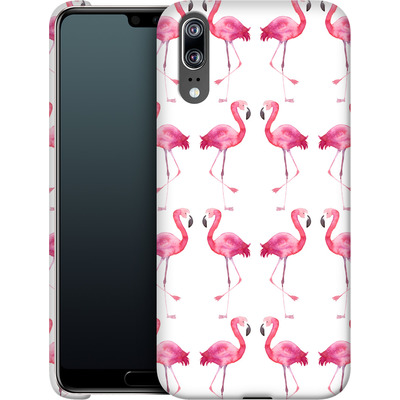 Huawei P20 Smartphone Huelle - Flamingo Print von Becky Starsmore