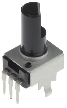 Bourns 1 Gang Rotary Carbon Potentiometer with an 6 mm Dia. Shaft - 100kΩ, ±20%, 0.05W Power Rating, Linear, Panel Mount