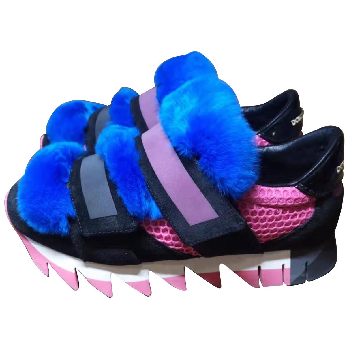 Dolce & Gabbana \N Blue Suede Trainers for Women 38.5 EU