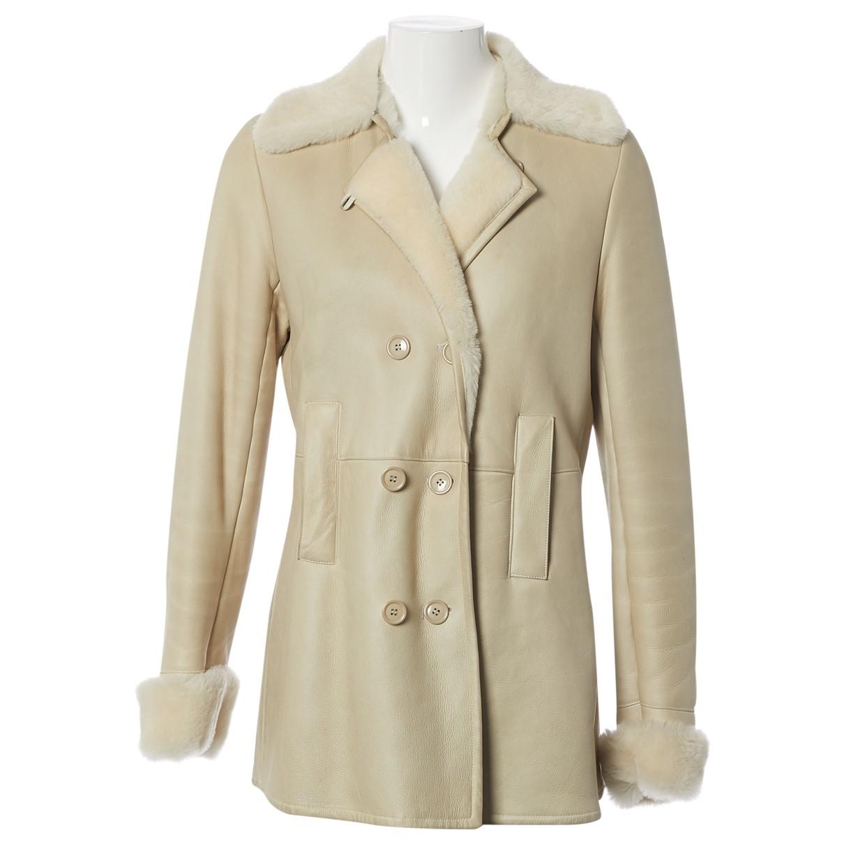 Joseph \N Ecru Shearling coat for Women L International