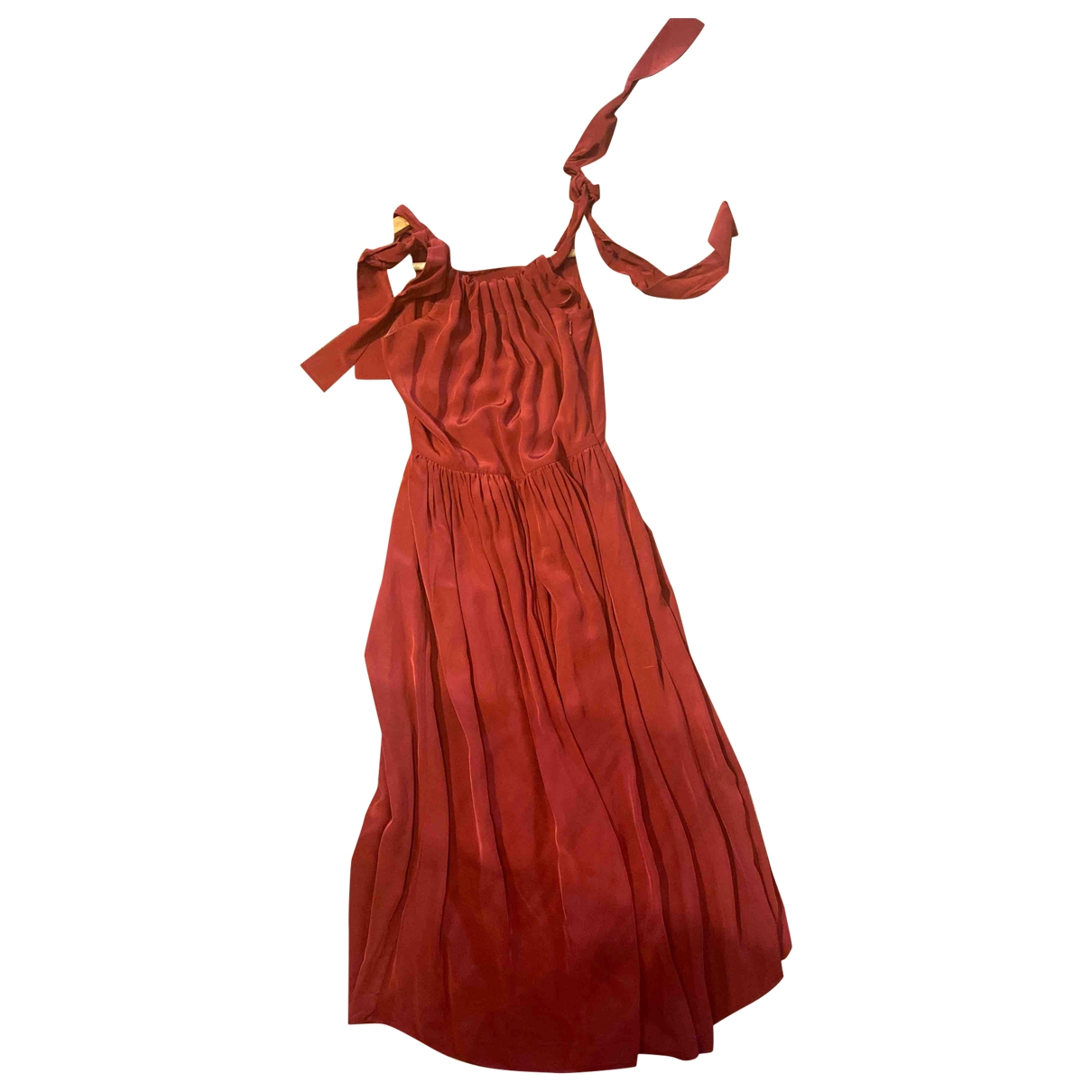 & Stories \N Red Cotton - elasthane dress for Women 34 FR