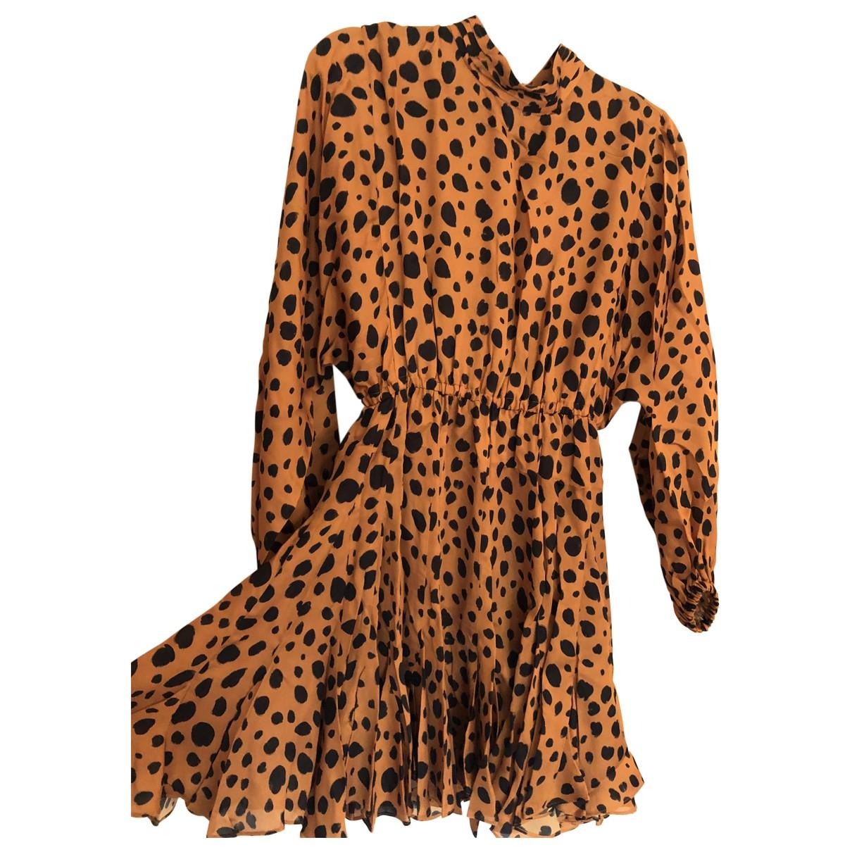 Rhode Resort \N Kleid in  Kamel Viskose