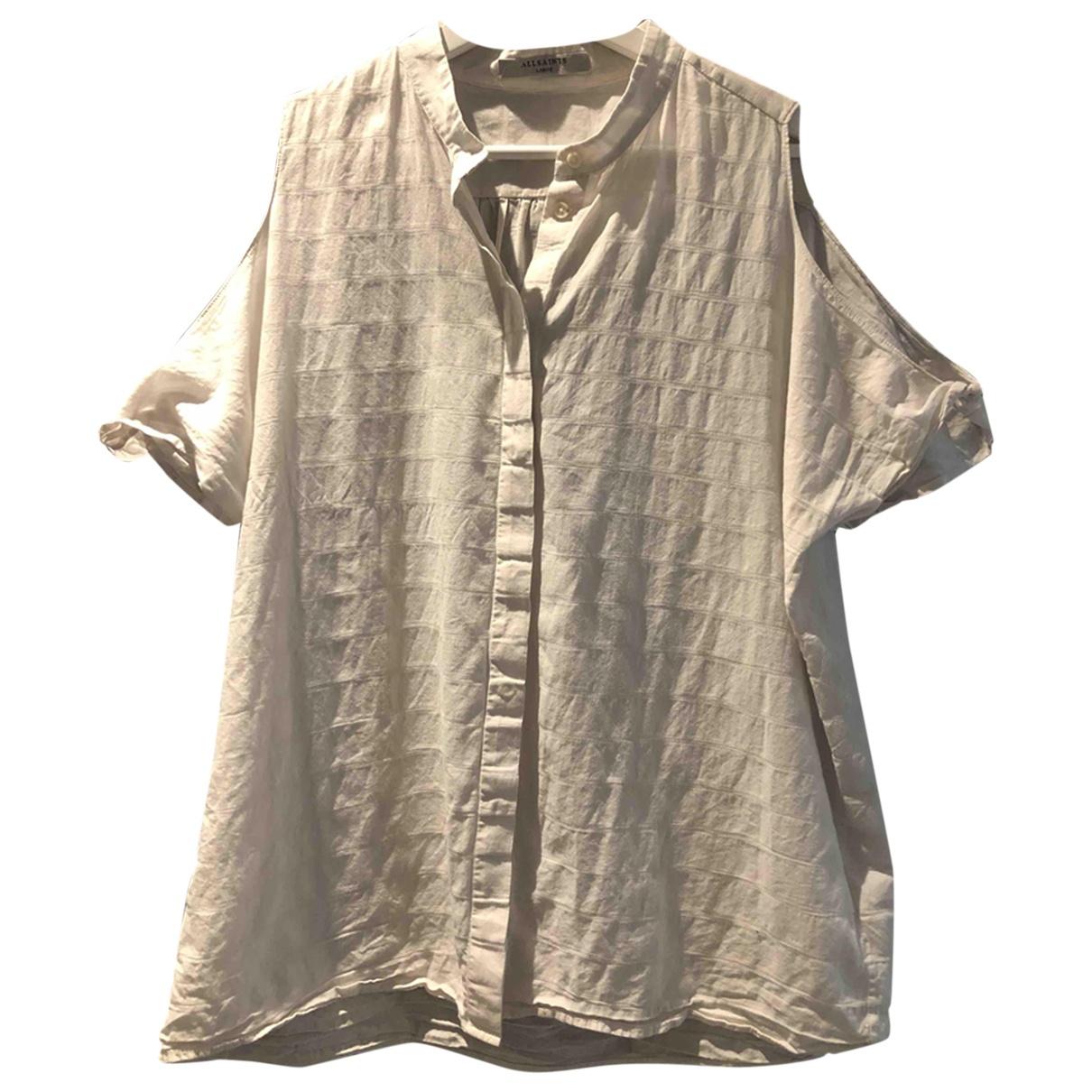 All Saints - Top   pour femme en coton - gris