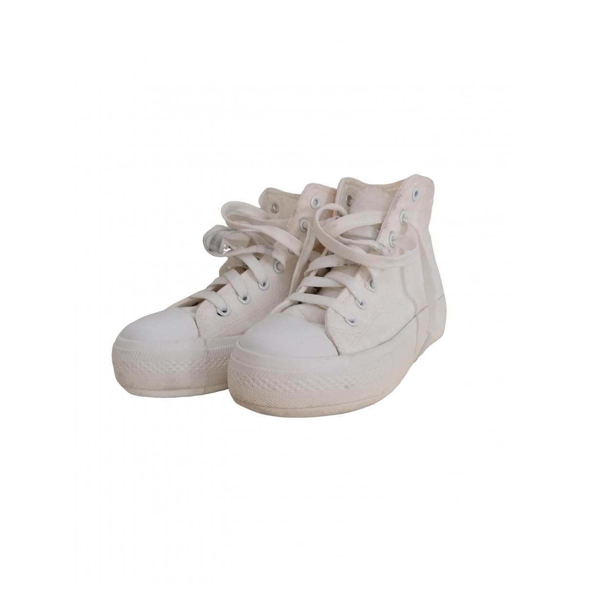 Asos \N Sneakers in  Weiss Leinen