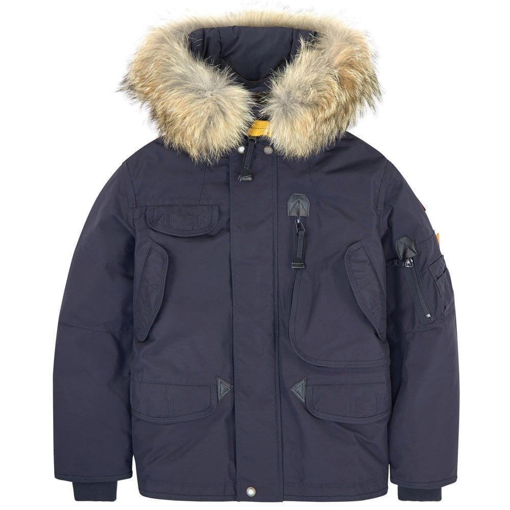 Parajumpers Kids Right Hand Parka Jacket Navy Colour: BLUE, Size: SMALL