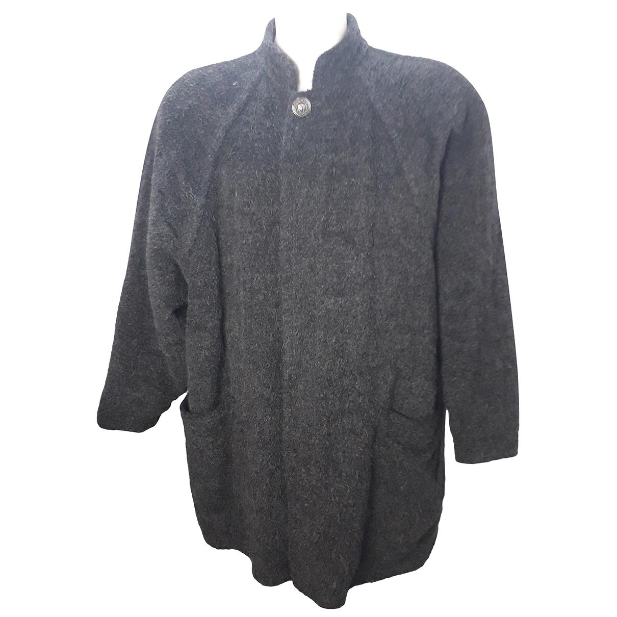 Gianni Versace \N Black Wool jacket  for Men 52 IT